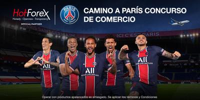 Gana una experiencia Paris Saint-Germain con todo incluido (PRNewsfoto/HotForex)