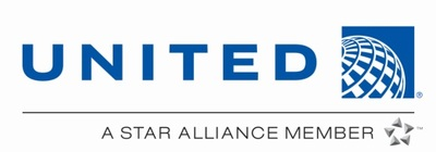 United Airlines logo.
