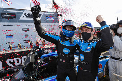 Ricky Taylor and Filipe Albuquerque won today's Acura Sports Car Challenge at Mid-Ohio, Acura's fourth consecutive win in IMSA sports car competition at the Mid-Ohio Sports Car Course, a streak that began in 2018.
