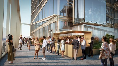 The Summit features an outdoor bar, seating areas to enjoy the magnificent views and the highest urban outdoor alpine meadow in the world.