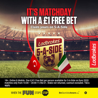 Ladbrokes promotion for the Euros on Twitter