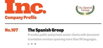 Perfil de The Spanish Group Inc