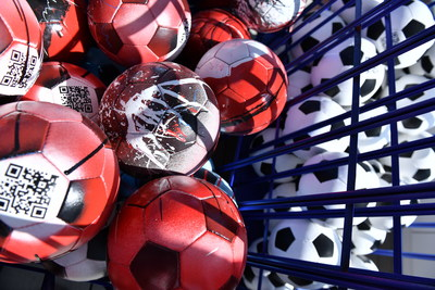 NFT Trophy UEFA EURO 2020: art installation disassembled for 3D scanning - Photo provided by PJSC Gazprom