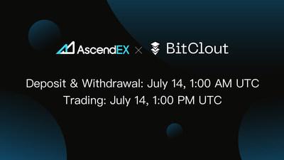 BitClout es listado en AscendEX y continua su increíble ritmo de crecimiento (PRNewsfoto/AscendEX)