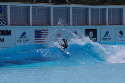 Hiroto Ohhara smashing the lip and releasing his fins in preparation for surfing's Olympic debut