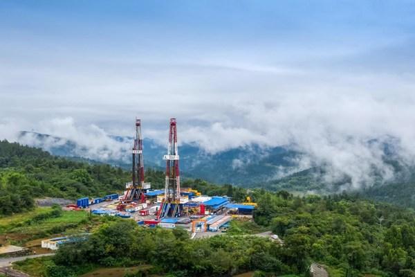 El yacimiento de gas de lutita Fuling de Sinopec establece un nuevo récord de producción acumulada de 40.000 millones de metros cúbicos. (PRNewsfoto/SINOPEC)